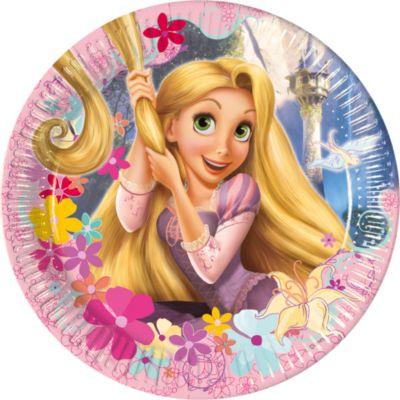Platos fiesta Rapunzel (8 u.)