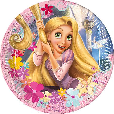 Rapunzel, 8 piatti di carta