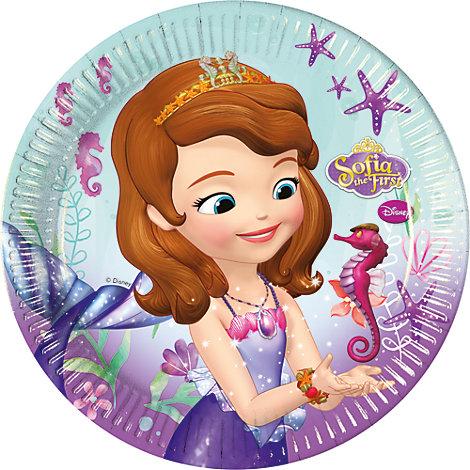 Lot de 8 assiettes de fête Princesse Sofia