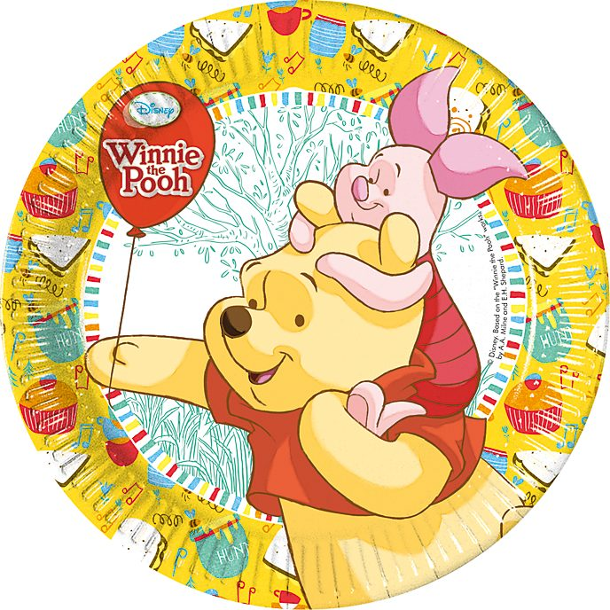 Platos fiesta Winnie the Pooh (8 u.)