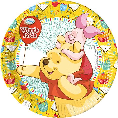 Winnie Puuh - 8 x Pappteller