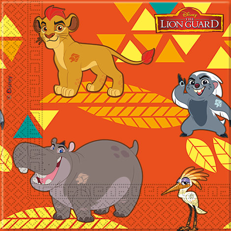 The Lion Guard, 20 tovaglioli di carta