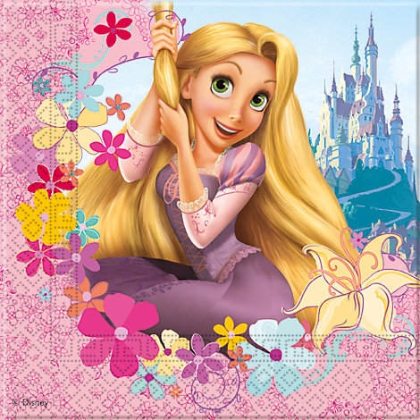 Rapunzel, 20 tovaglioli di carta