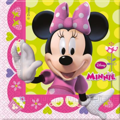 Lot de 20 serviettes de fête Minnie Mouse