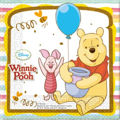 Lot de 20 serviettes de fête Winnie l'Ourson