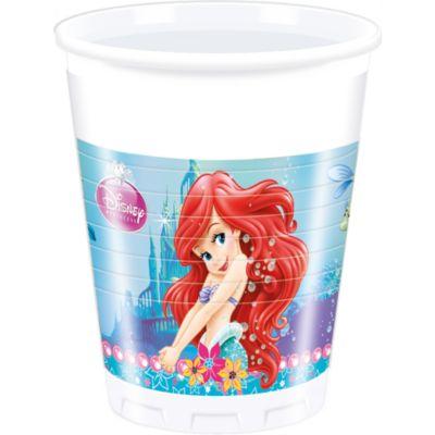 Lot de 8 gobelets de fête Ariel