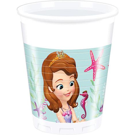 Lot de 8 gobelets de fête Princesse Sofia