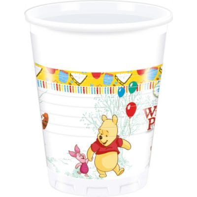 Lot de 8 gobelets de fête Winnie l'Ourson