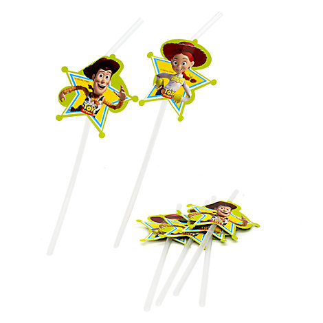 Lot de 6 pailles flexibles Toy Story