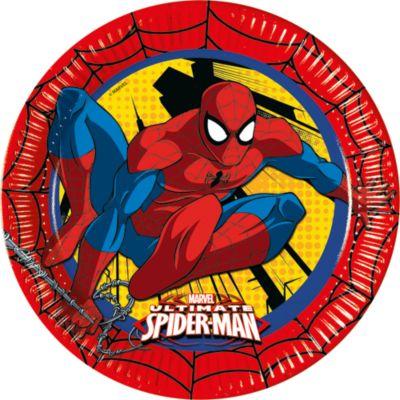 Set de 8 platos de fiesta de Spider-Man
