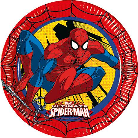 Spiderman 8x partytallrikar