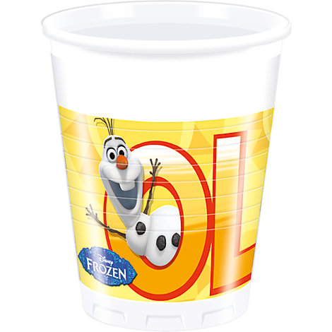 8 gobelets de fête Olaf