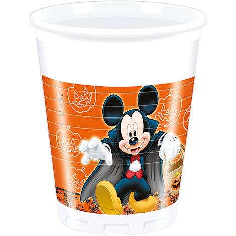 Lot de 8 gobelets de fête Halloween Mickey et Minnie Mouse