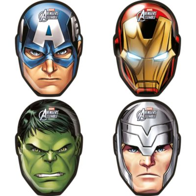 The Avengers - 4 x Teller mit Charakter-Form