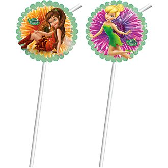 Disney Fairies 6x Bendy Straws Set