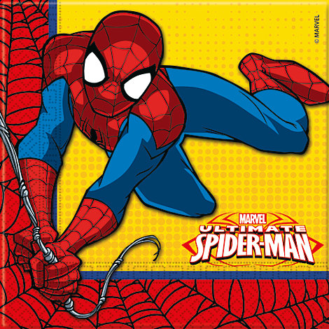 Spiderman 20x partyservetter