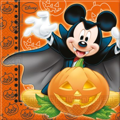 Lot de 20 serviettes de fête Halloween Mickey Mouse