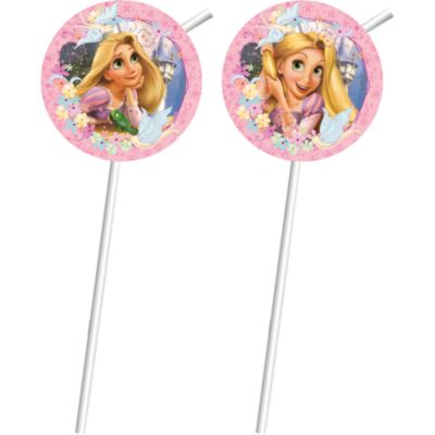 Rapunzel 6x Bendy Straws Set