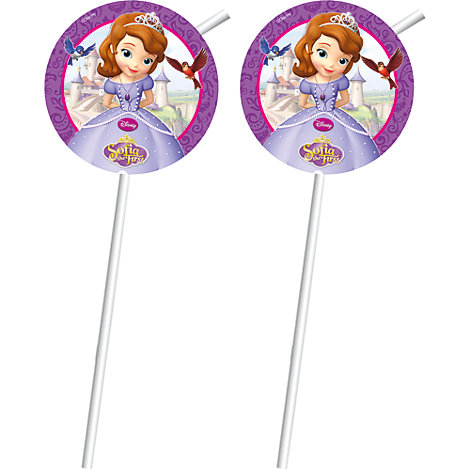 Sofia The First 6x Bendy Straws Set
