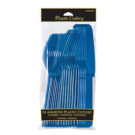 Blue Cutlery 24 Piece Set