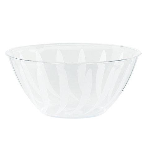 Transparent serveringsskål