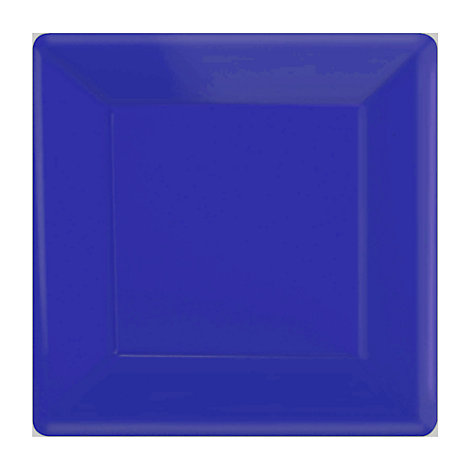 Blue 20x Square Party Plates Set