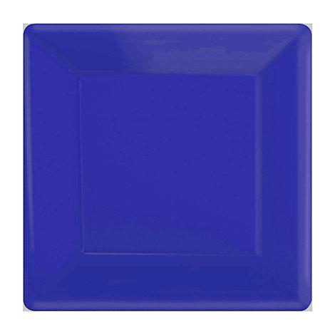 Blå 20x fyrkantiga partytallrikar