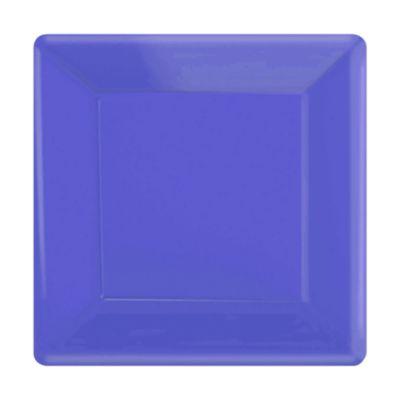 Lila 20x fyrkantiga partytallrikar