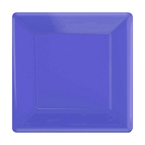 Lot de 20 assiettes de fête carrées violettes