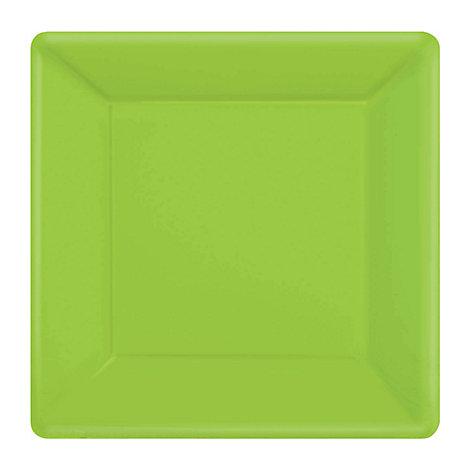 Platos fiesta cuadrados color verde (20 u.)
