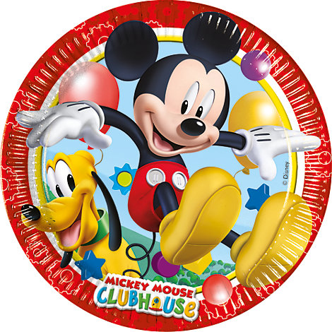Platos pequeños fiesta Mickey Mouse (8 u.)