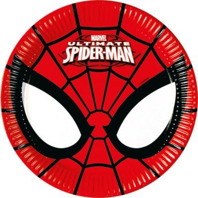8 petites assiettes de fête Spider-Man