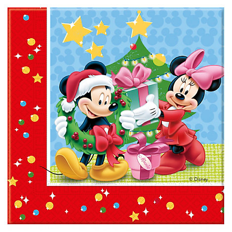 Mickey Mouse 20x Christmas Party Napkin Pack