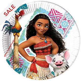 Disney Store Moana 8x Party Plates Set