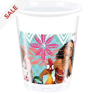 Disney Store Moana 8x Party Cups