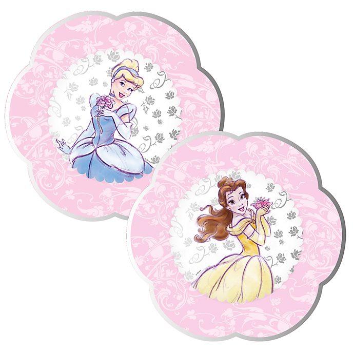 Disney Store Ensemble de 8 assiettes de fête Princesses Disney