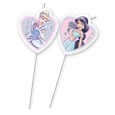 Disney Prinzessin - 6 x Strohhalme biegsam