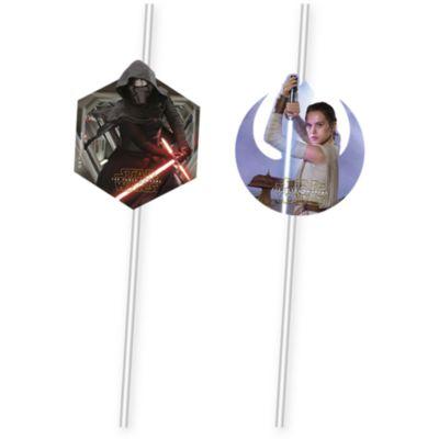 Star Wars: Das Erwachen der Macht - 6 x Strohhalme biegsam