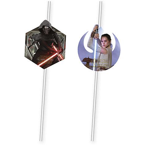 Pajitas flexibles Star Wars VII: El despertar de la Fuerza (6 u)