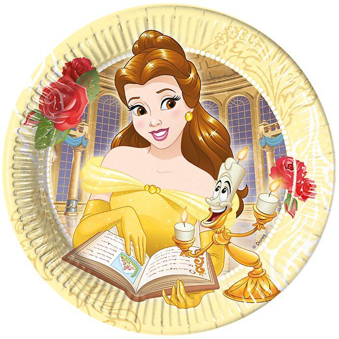 Disney Store 8 assiettes de fête La Belle et la Bête