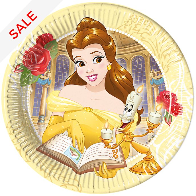 Disney Store Beauty and the Beast 8x Party Plates Set