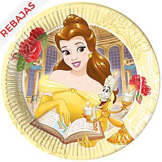 Platos fiesta La Bella y la Bestia (8 u.), Disney Store