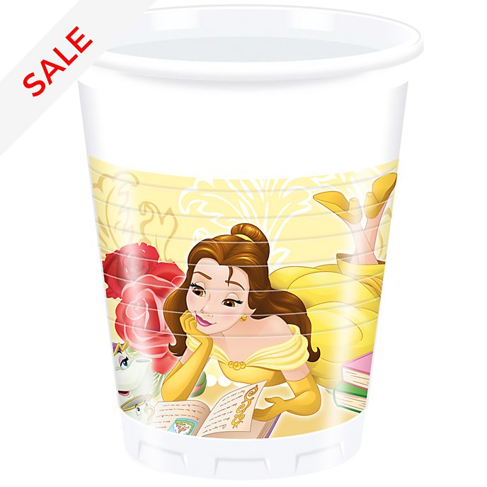 Disney Store Beauty and the Beast 8x Party Cups