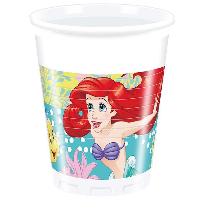 Disney Store La Sirenetta, 8 bicchieri di plastica