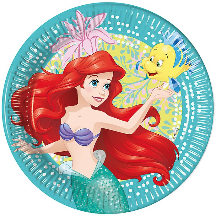 Disney Store The Little Mermaid 8x Party Plates Set