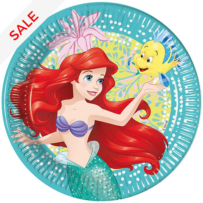 Disney Store The Little Mermaid 8x Party Plates Set
