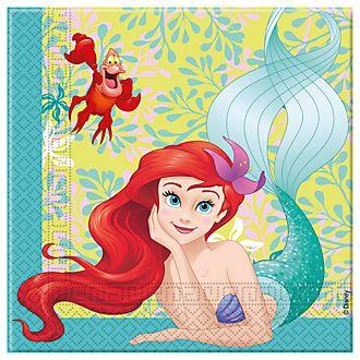 Disney Store Paquet de 20 serviettes de fête La Petite Sirène