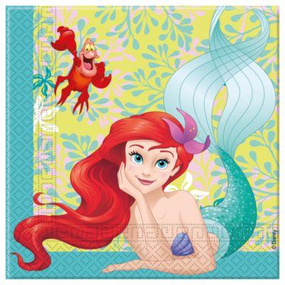Paquet de 20 serviettes de fête La Petite Sirène