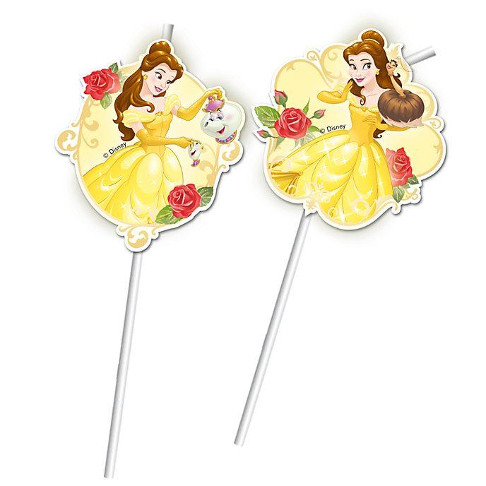 Disney Store Ensemble de 6 pailles flexibles La Belle et La Bête