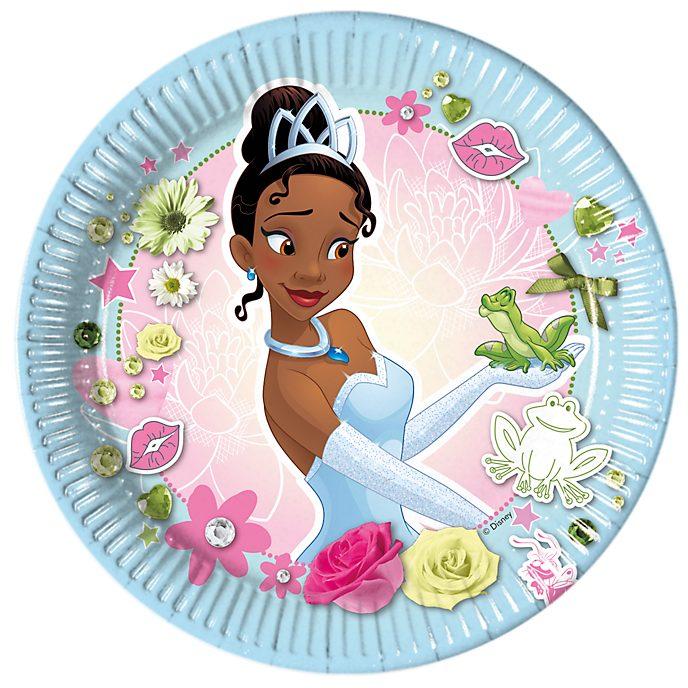 Disney Store Ensemble de 8 assiettes de fête Tiana, La Princesse et la Grenouille